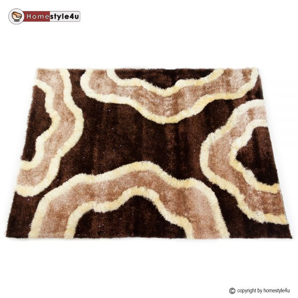Tapis Shaggy 120 x 170 marron carpet