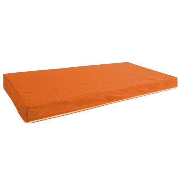Seat cushion in a set of 2 Seat pad Cushion Cushion mat orange 86x53 cm