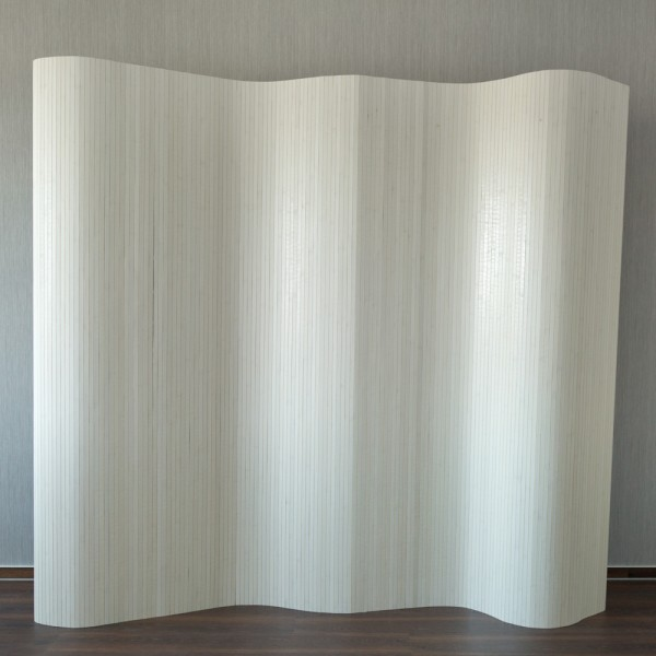 bamboo paravent 200x250 white