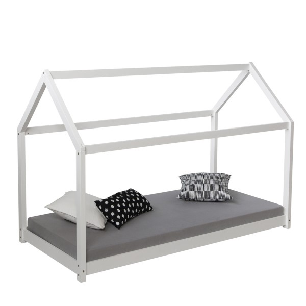 playbed housebed woodbed white 90 x 200cm