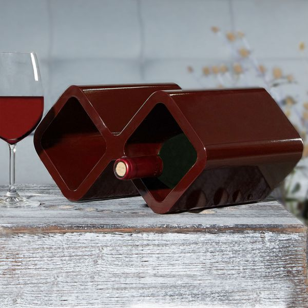 Retro Cube Shelf Shelving wine holder darkbrown