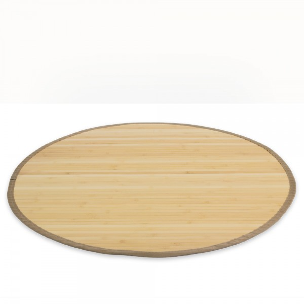Bamboo carpet Rug 200 cm round in Light Natural