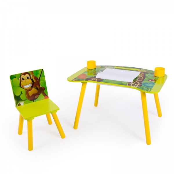 Childrens Desk Study Homework Writing Table with Stool Jungle