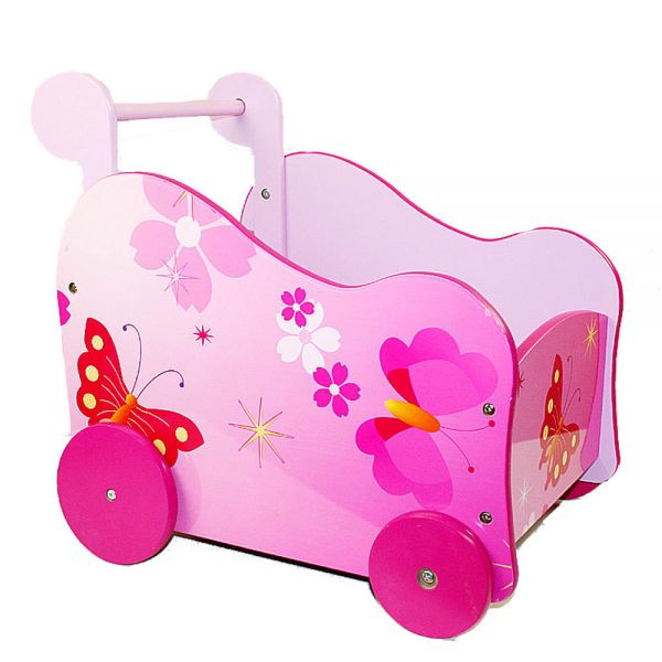 Carriers wooden trolley carts wooden doll carriage