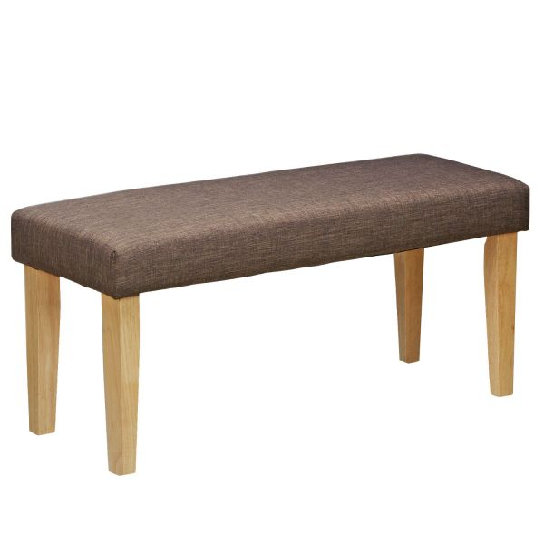 Upholstered Bench Brown Seat Bench Side Bench Stool Seating 103 cm