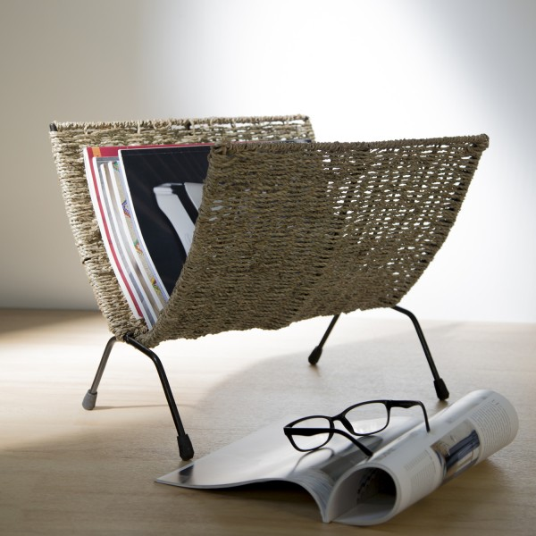 Newspaper stand magazine Holder Sea Grass
