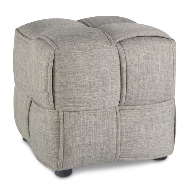 Stool Grey Seater Cube Seat Upholstered Stool Upholstery Chair
