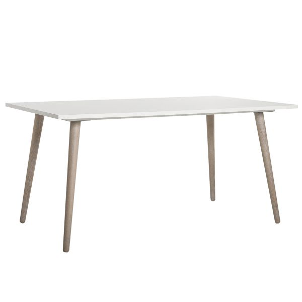 Dining table wooden table kitchen table 160 wood white solid Scandinavian