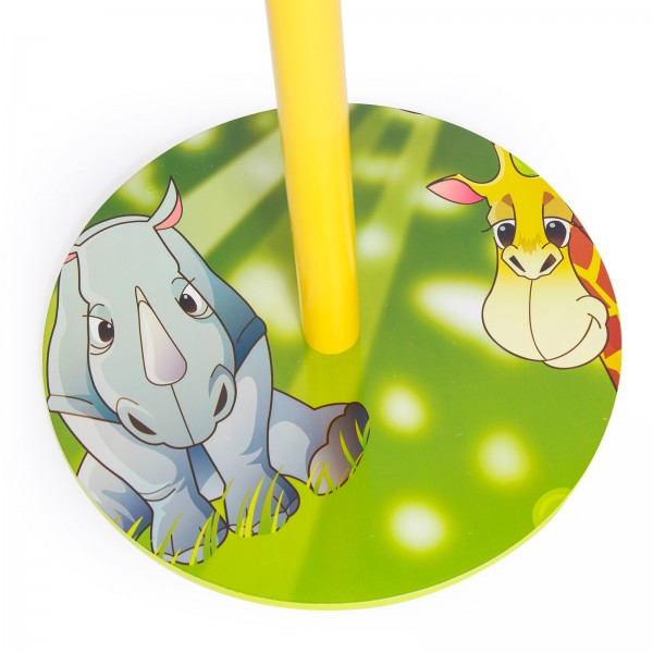 Children's clothes coat hat stand hanger with four hooks, Jungle