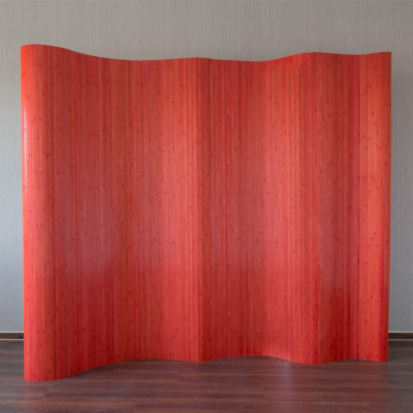 bamboo paravent 200x250 red