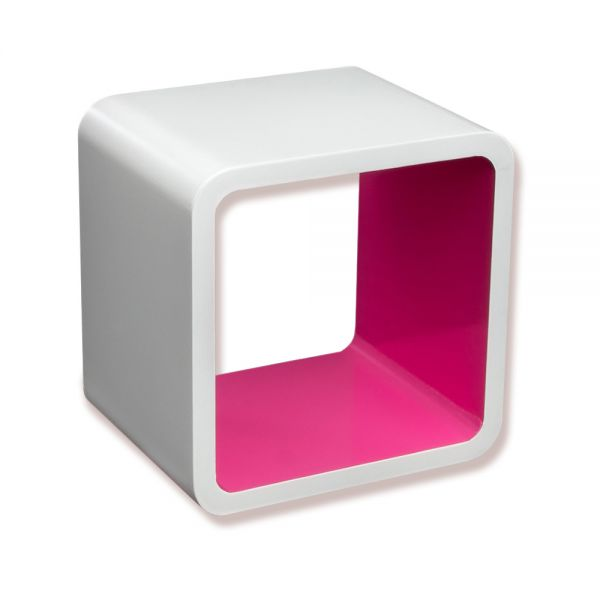 Cube Wandregal in pink