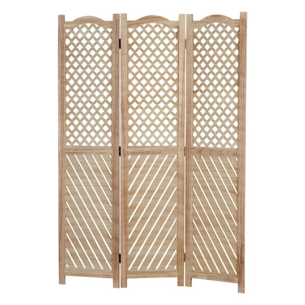 3 fold Wood Paravent Room Divider Partition Folding Screen Privacy Screen