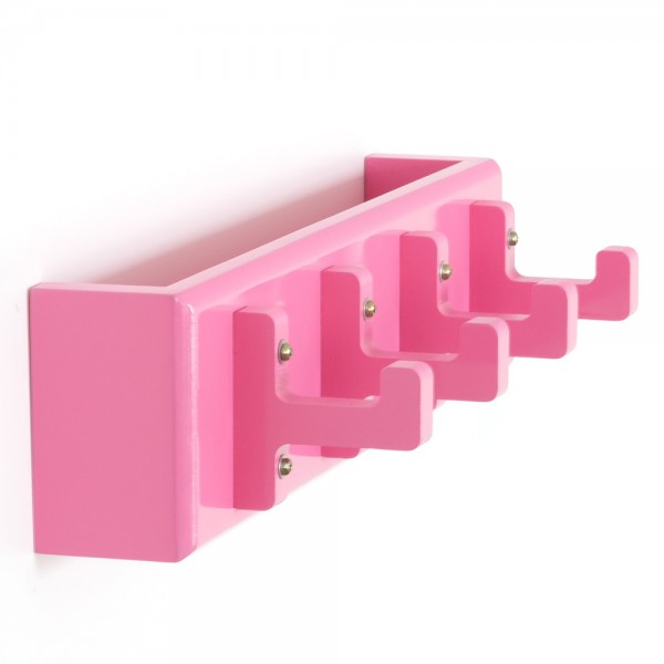 Key board, key box, wall hooks, coat hooks, wardrobe pink