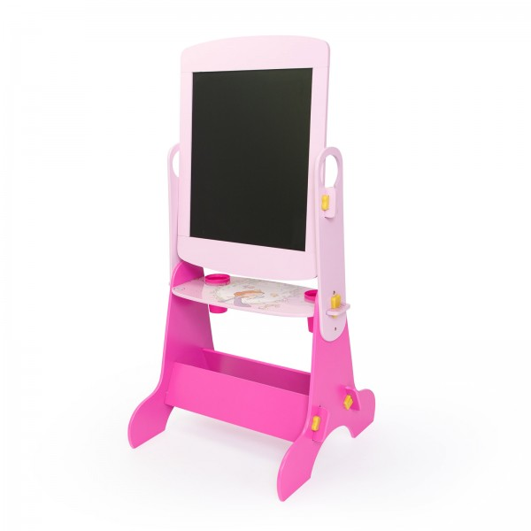 Children's kids Black board Double Sided Art Easel Drawing Board Princess