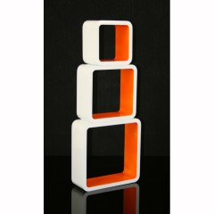 Cube Wandregal in Orange