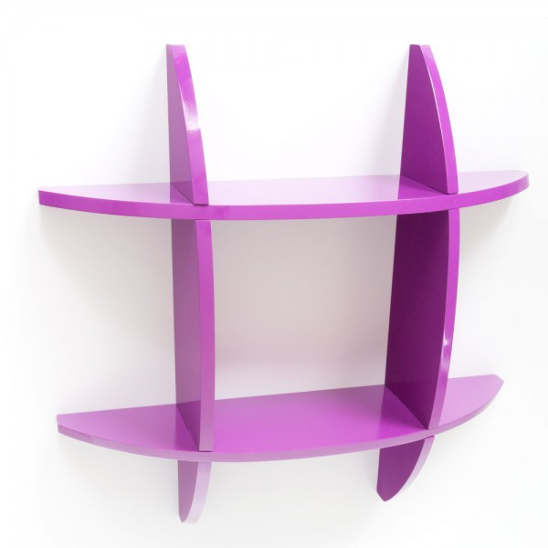 Wall shelf Cube Retro Bookcase shelves purple