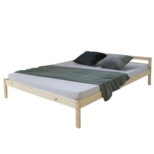 Solid wood bed in nature 200 x 140