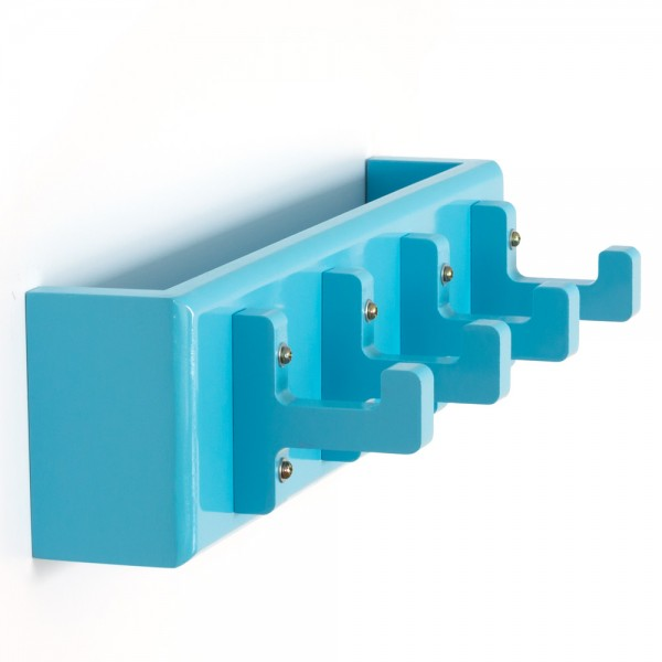 Key board, key box, wall hooks, coat hooks, wardrobe blue