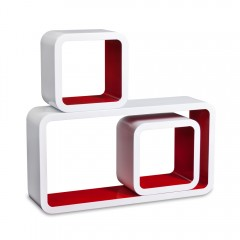 Cube Wandregal in rot
