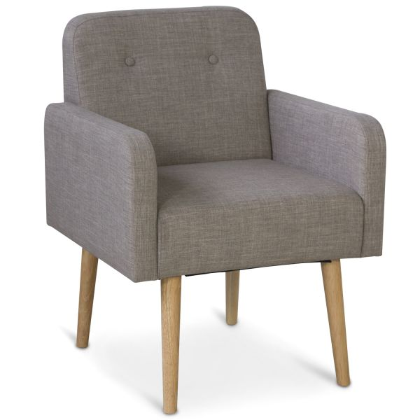 chair grey armchair wooden legs