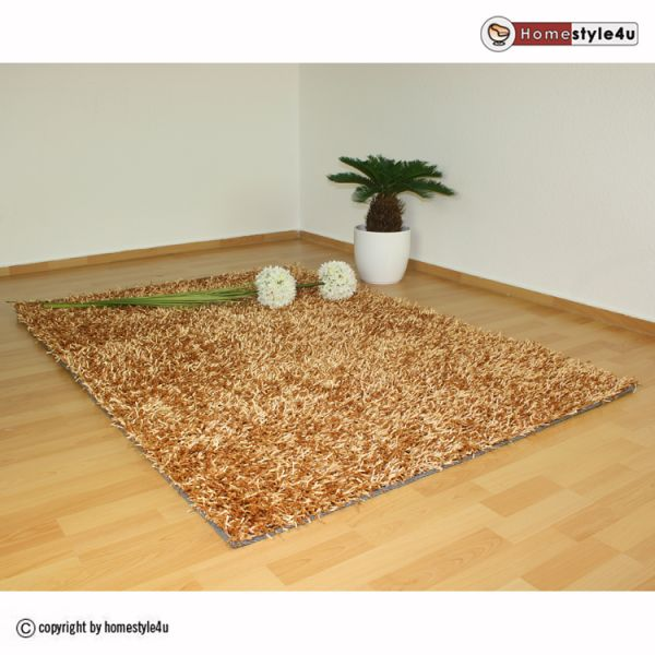 Shaggy rugs 160 x 230 beige carpet