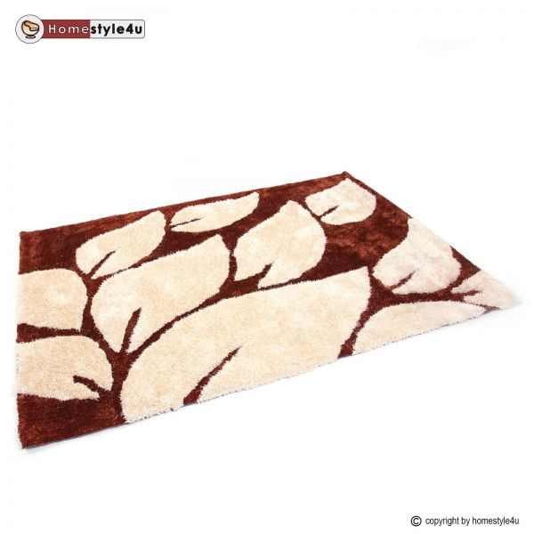 Shaggy rugs 160 x 230 brown carpet