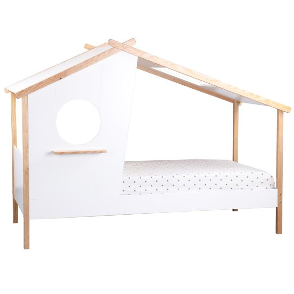 Children's Bed 90x200 House Bed Kids Bed Wooden Bed White Cot Wood