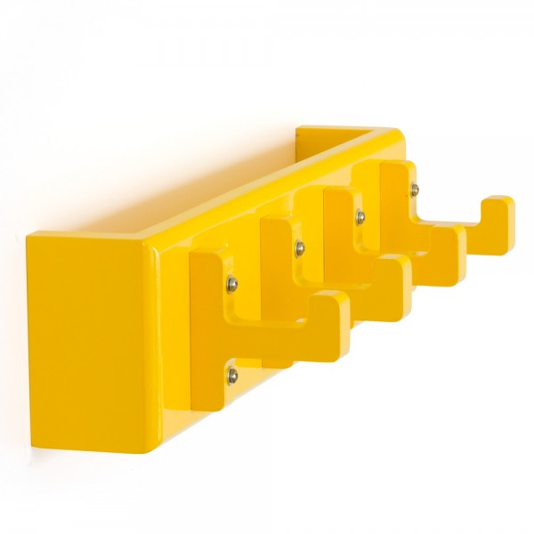 Key board, key box, wall hooks, coat hooks, wardrobe yellow