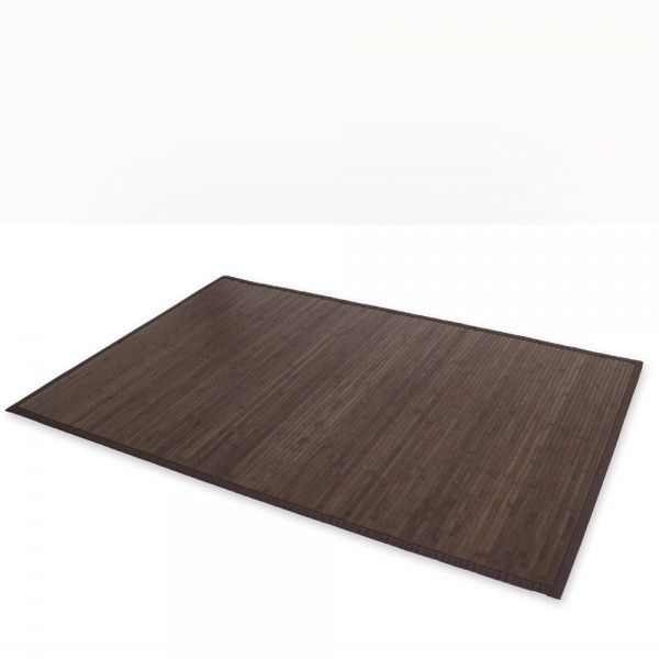 Bamboo carpet Rug 200x250 in darkbrown